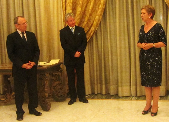 Rome 2013 Dr. Mary McAleese Receives Order of Clans of Ireland