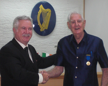 Jack Gargan of the MacGeoghegan Clan received the Order of Clans of Ireland at a ceremony in Bangkok,