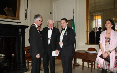 Councillor McCartan, Dr. Michael Egan (Cathaoirleach) and Dr. James O'Higgins Norman
