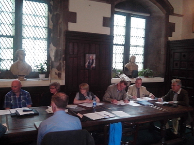 The 2015 board at work in Christchuch