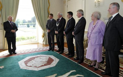 President Higgins Receives Board of Clans of Ireland 2012