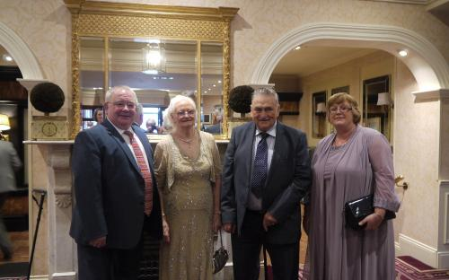 Guest of Honour at the banquet, Sean O Fearghail and his wife Mary Claire with Clan Chieftain Conal and his wife Rose.