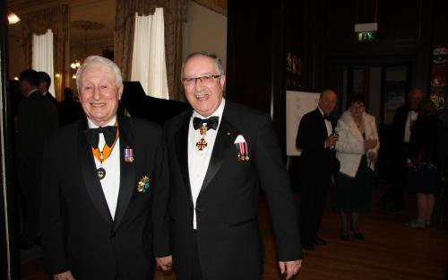 Baron Denis Hoban and Chevalier Brendan O'Reilly KCHS