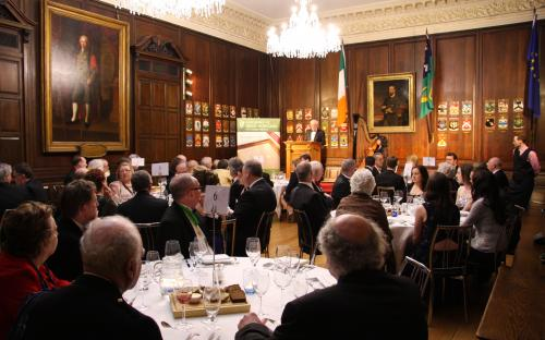 Michael J.S. Egan (Cathaoirleach) speaks to dinner guests