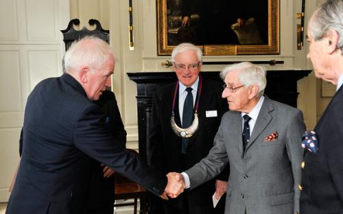 Minister Deenihan is welcomed by Dr. Egan (Clans of Ireland) and The Ó Morchoe (Standing Council of Chiefs)