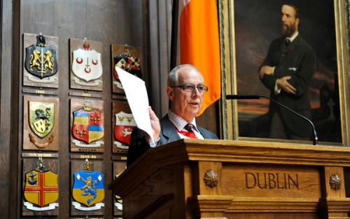 Eamon Clancy gives Treasurer's Report