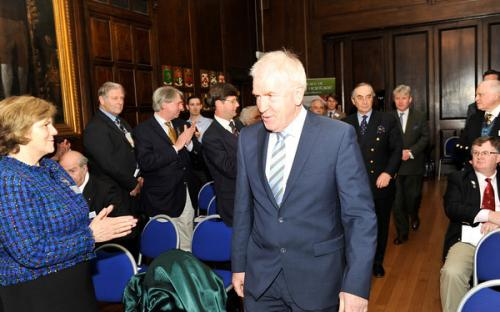 Minister Deenihan arrives at the Oak Room in the Mansion House