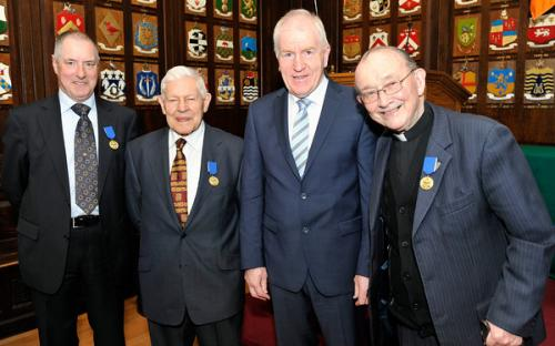 Minister Deenihan with CIOM recipients